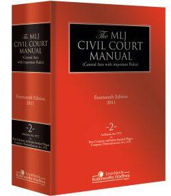 MLJ Civil Court Manual Vol 2