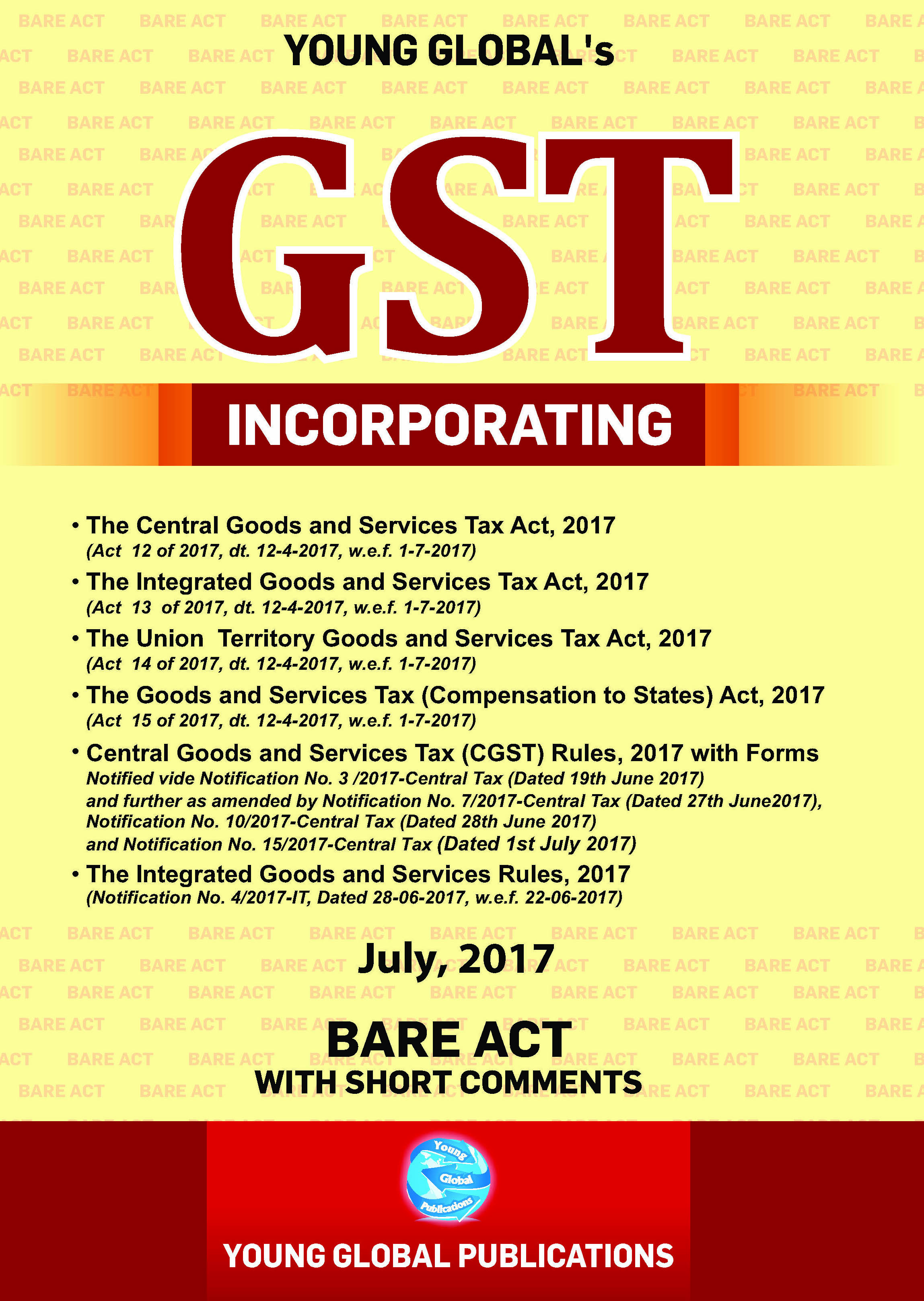 GST Bare Act with RULES AND FORMS